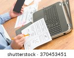 designer working at new mobile... | Shutterstock . vector #370453451