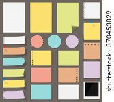 flat colored paper notes ... | Shutterstock .eps vector #370453829