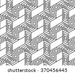 abstract cubes geometry graphic ... | Shutterstock .eps vector #370456445