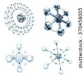 set of glass molecules on white | Shutterstock . vector #370458005