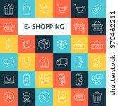 line art online shopping icons... | Shutterstock .eps vector #370462211