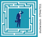 solving problems. business... | Shutterstock .eps vector #370467311
