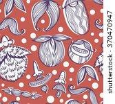 vector funny pattern of beards... | Shutterstock .eps vector #370470947