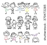 vector children's doodle of... | Shutterstock .eps vector #370472285