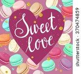 trendy valentines day vector...   Shutterstock .eps vector #370474859