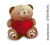 Teddy Bear Holding A Heart In...