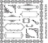 decor ornament luxury set... | Shutterstock .eps vector #370478534