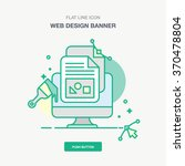 flat line design style modern... | Shutterstock .eps vector #370478804