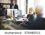 business team working office... | Shutterstock . vector #370480511