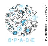 Space Icon Set In Linear Style...