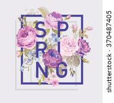 floral spring graphic design  ... | Shutterstock .eps vector #370487405