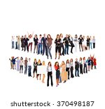 office culture people diversity  | Shutterstock . vector #370498187