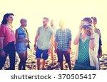 friendship freedom beach summer ... | Shutterstock . vector #370505417