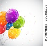 color glossy balloons... | Shutterstock .eps vector #370506179