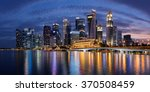 colorful singapore business...   Shutterstock . vector #370508459