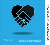 handshake icon forming a heart  ... | Shutterstock .eps vector #370510931