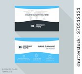 creative business card vector... | Shutterstock .eps vector #370513121