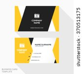creative business card vector... | Shutterstock .eps vector #370513175
