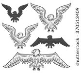 set of eagle for emblem and... | Shutterstock .eps vector #370513409