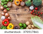 fresh and healthy organic... | Shutterstock . vector #370517861