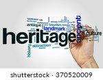 heritage word cloud | Shutterstock . vector #370520009