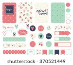 Set of creative cards design, tape, stickers, labels. Vector design templates for journal cards, scrapbooking cards, greeting cards, gift cards, patterns, blogging.