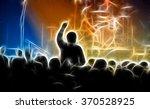 crowd in a concert | Shutterstock . vector #370528925