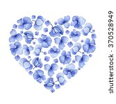 blue watercolor hydrangea... | Shutterstock . vector #370528949