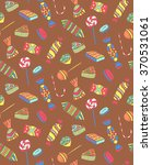 a pattern of different candies... | Shutterstock .eps vector #370531061