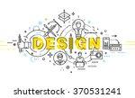 flat style  thin line art... | Shutterstock .eps vector #370531241