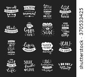 vector calligraphy. hand drawn... | Shutterstock .eps vector #370533425