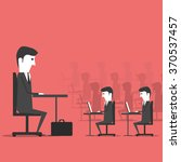 managing sitting in the office... | Shutterstock . vector #370537457