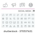 vector thin line icons set and... | Shutterstock .eps vector #370537631