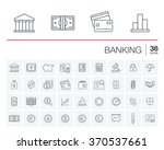 vector thin line icons set and... | Shutterstock .eps vector #370537661