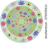 an image of a set of flower... | Shutterstock .eps vector #370539611