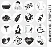 doctor with medical vector icons | Shutterstock .eps vector #370542875