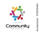 global community logo icon... | Shutterstock .eps vector #370545464