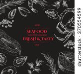 vector hand drawn seafood set  ...   Shutterstock .eps vector #370554599