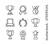 vector black flat award icons... | Shutterstock .eps vector #370559141