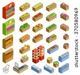 isometric counters with food | Shutterstock .eps vector #370580969