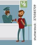 passenger declares his passport ... | Shutterstock .eps vector #370585709