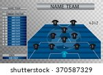 vector soccer field with the... | Shutterstock .eps vector #370587329