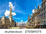 the grand place in a beautiful... | Shutterstock . vector #370589375