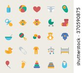 baby vector icons set  flat... | Shutterstock .eps vector #370590875