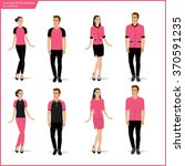 fashion uniform set.vector | Shutterstock .eps vector #370591235