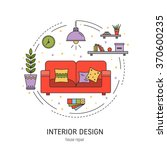 interior design  round concept... | Shutterstock .eps vector #370600235