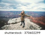 travel hiking photo of young... | Shutterstock . vector #370602299