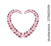 floral wreath in heart shape...   Shutterstock . vector #370602434