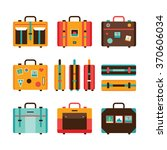 travel bag icon set colorful... | Shutterstock .eps vector #370606034