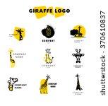 vector giraffe logo... | Shutterstock .eps vector #370610837